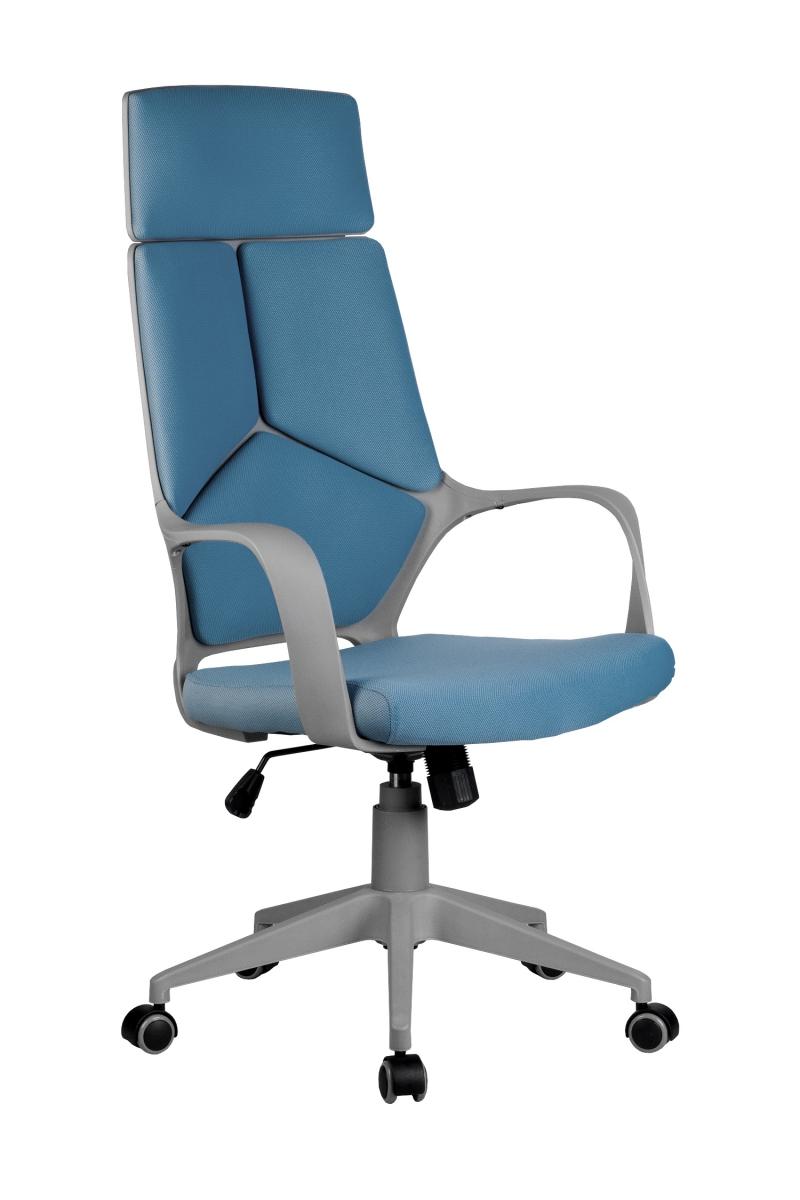 Кресло-RCH-8989-серый-пластик-синяя-ткань-1