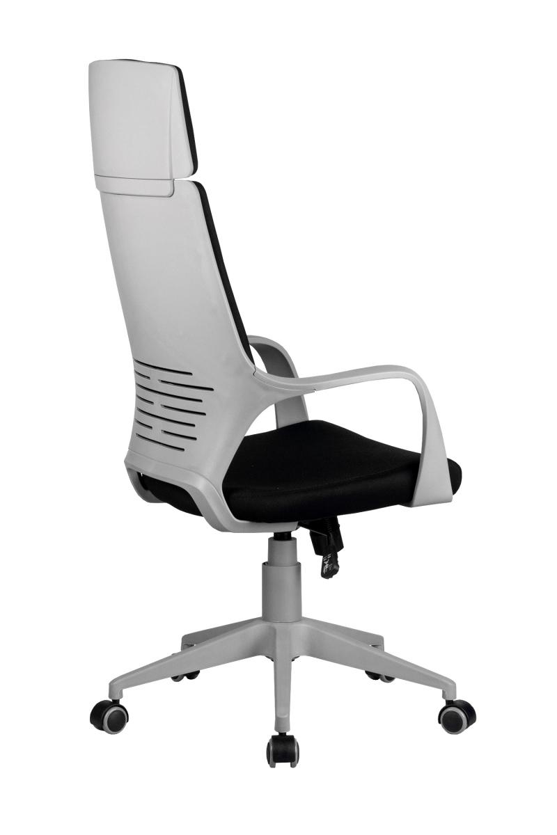 Кресло-RCH-8989-серый-пластик-черная-ткань-4