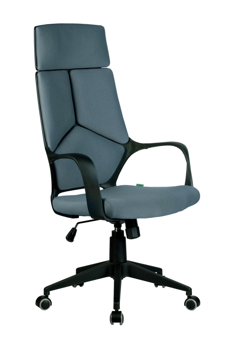 Кресло-RCH-8989-черный-пластик-серая-ткань-1