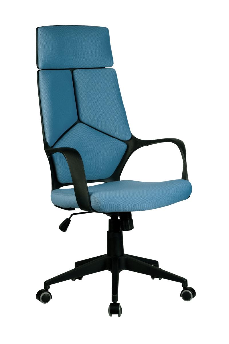 Кресло-RCH-8989-черный-пластик-синяя-ткань-1