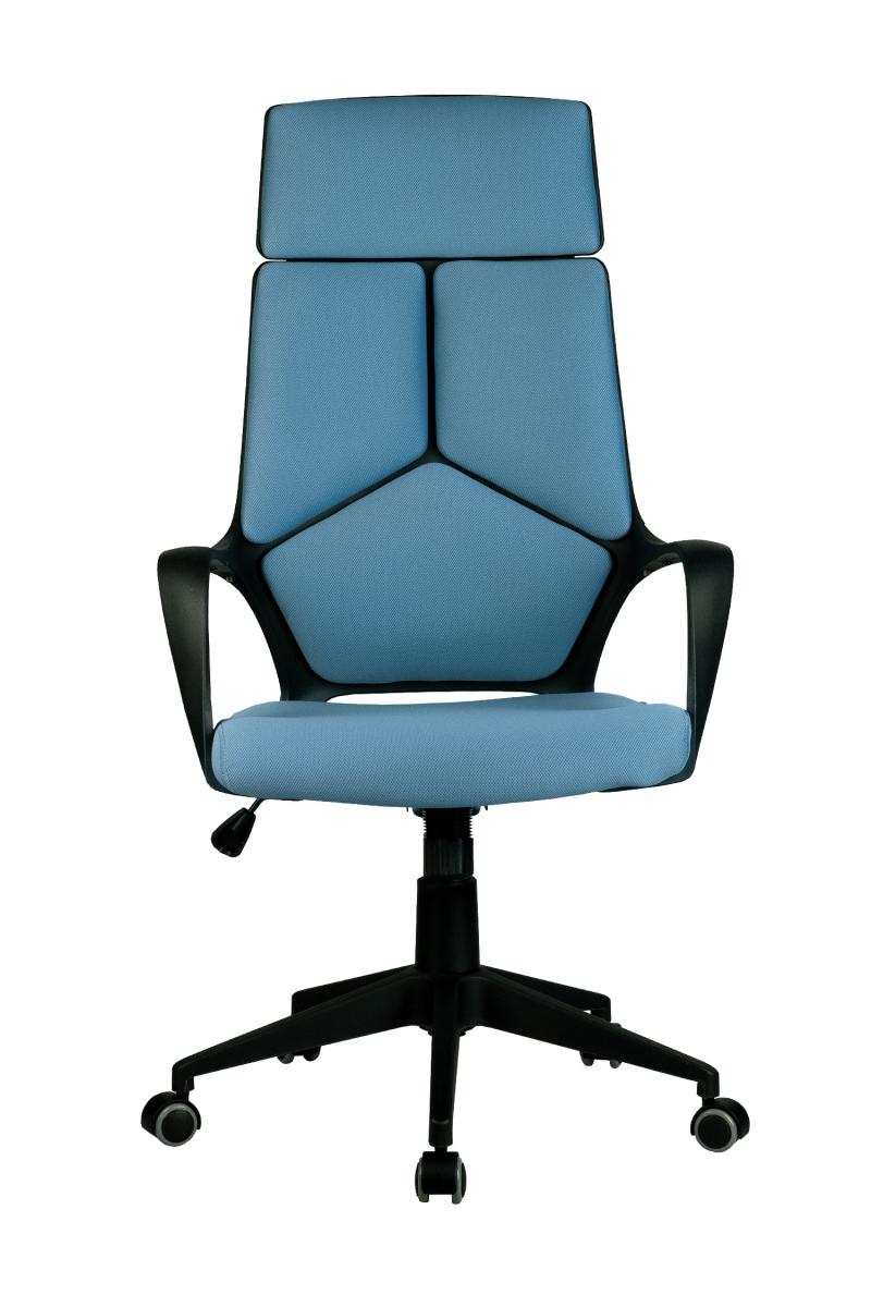 Кресло-RCH-8989-черный-пластик-синяя-ткань-2