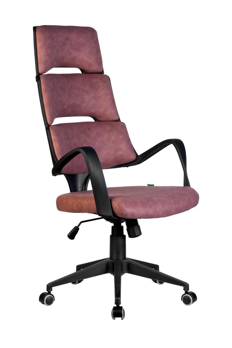 Кресло-RCH-Sakura-черный-пластик-ткань-фьюжн-терракота1