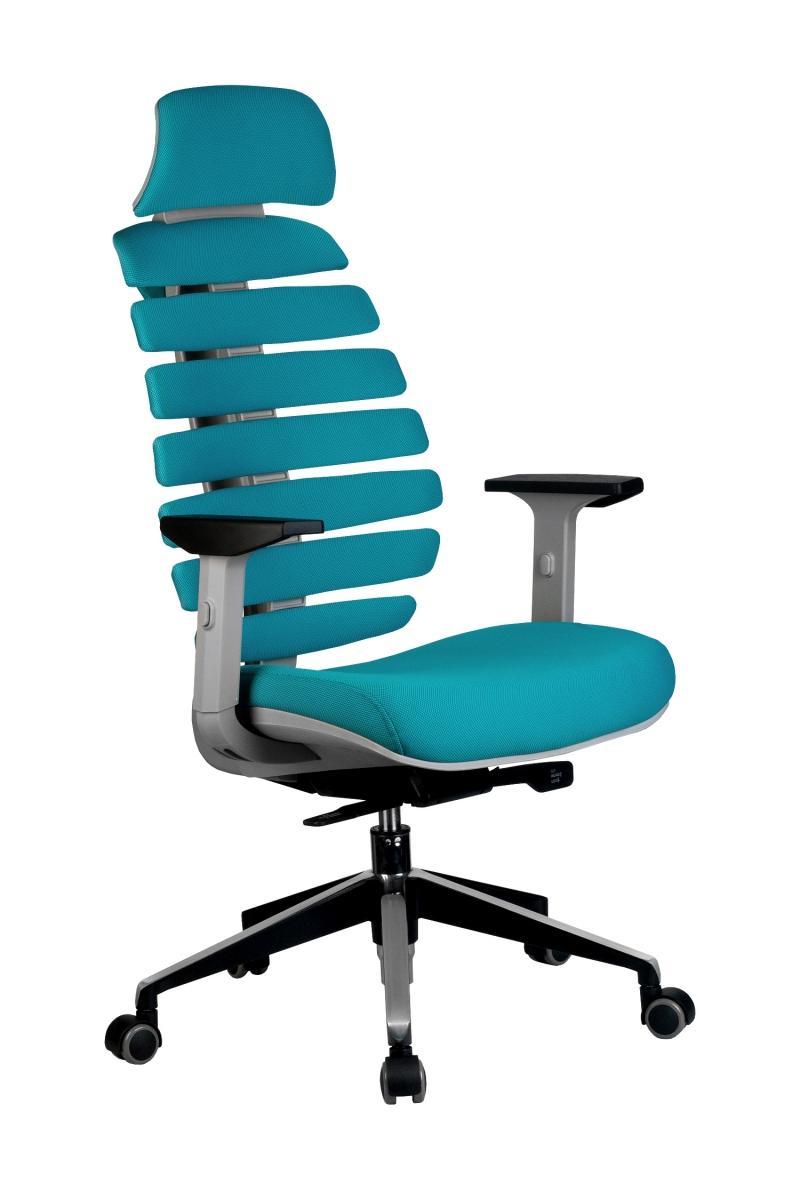 Кресло-RCH-Shark-серый-пластик-ткань-лазурная-1