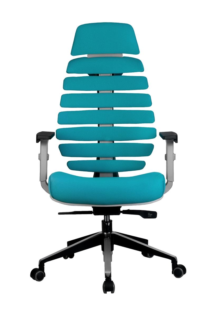 Кресло-RCH-Shark-серый-пластик-ткань-лазурная-2