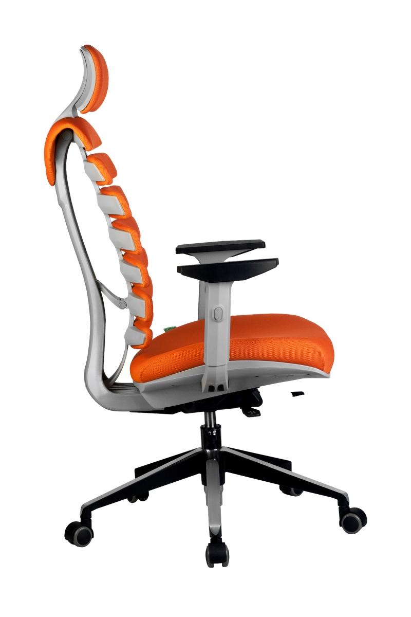 Кресло-RCH-Shark-серый-пластик-ткань-оранжевая-3