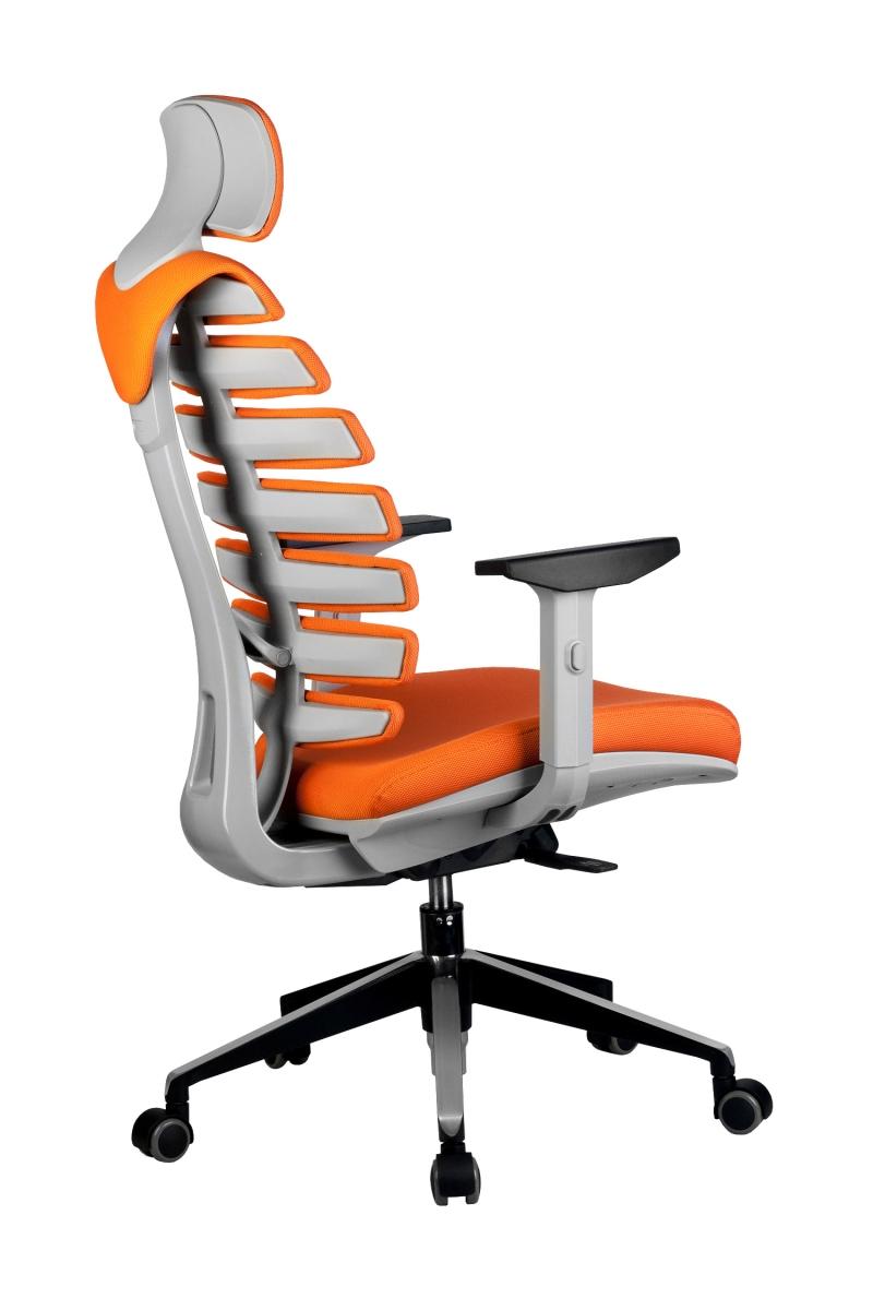 Кресло-RCH-Shark-серый-пластик-ткань-оранжевая-4