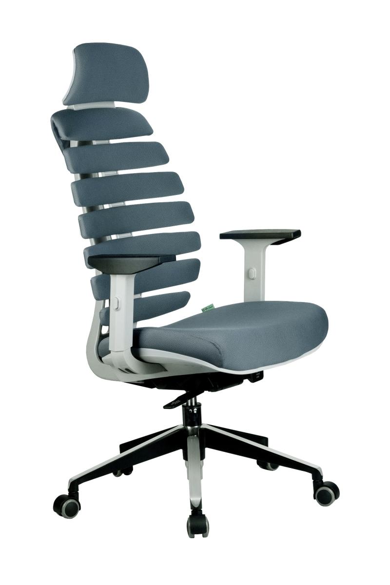 Кресло-RCH-Shark-серый-пластик-ткань-серая-1