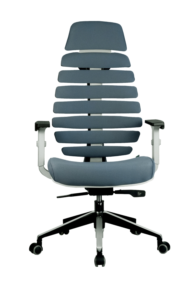 Кресло-RCH-Shark-серый-пластик-ткань-серая-2