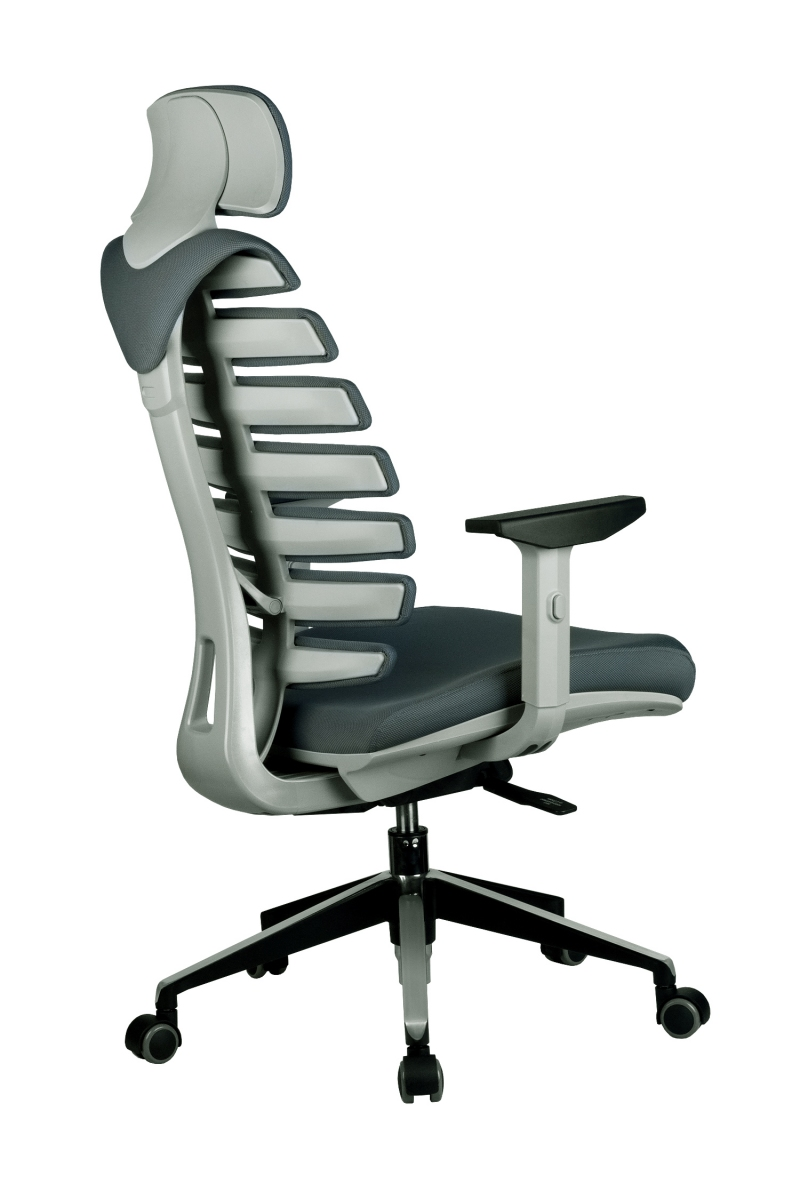 Кресло-RCH-Shark-серый-пластик-ткань-серая-4