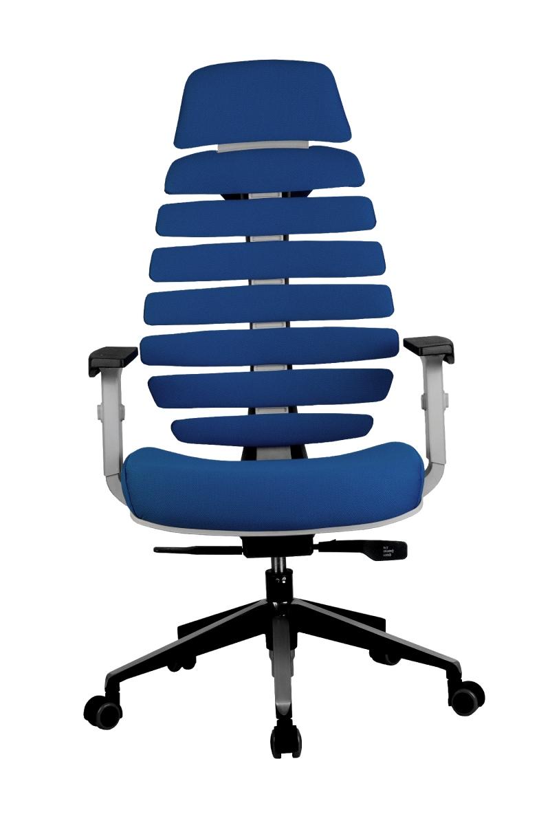 Кресло-RCH-Shark-серый-пластик-ткань-синяя-2