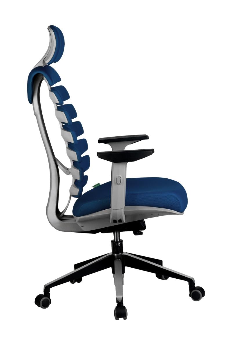 Кресло-RCH-Shark-серый-пластик-ткань-синяя-3