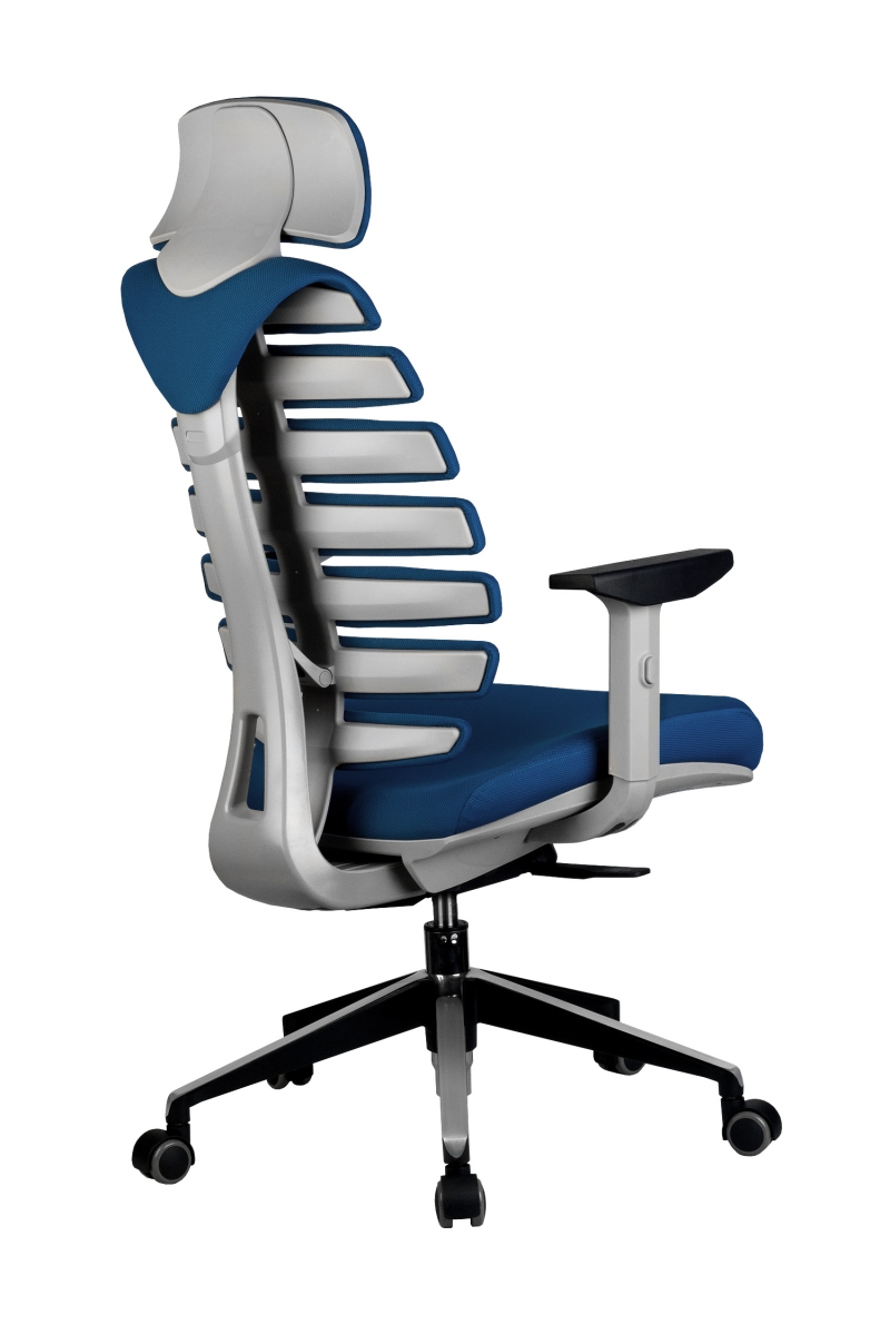 Кресло-RCH-Shark-серый-пластик-ткань-синяя-4