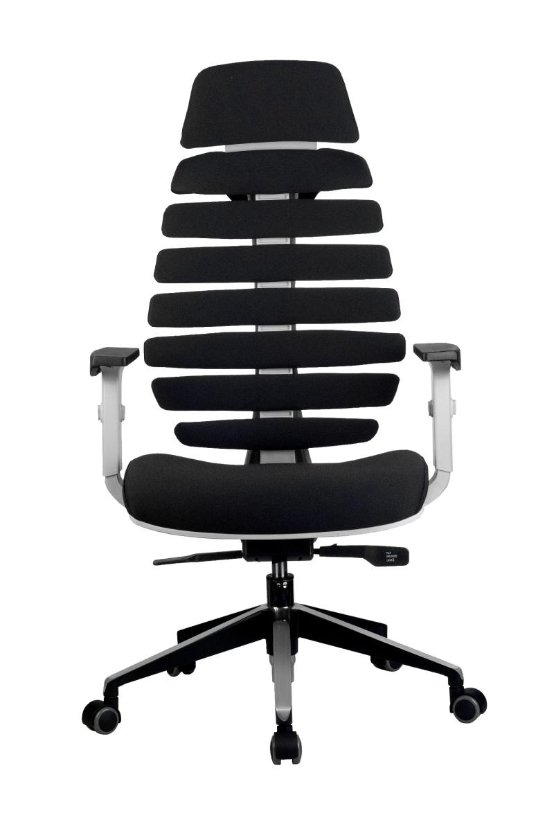 Кресло-RCH-Shark-серый-пластик-ткань-черная-2