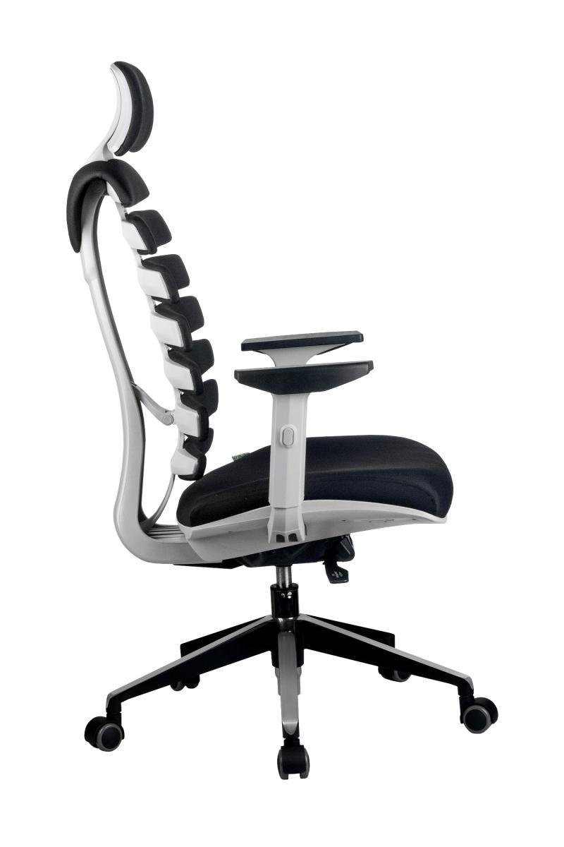 Кресло-RCH-Shark-серый-пластик-ткань-черная-3