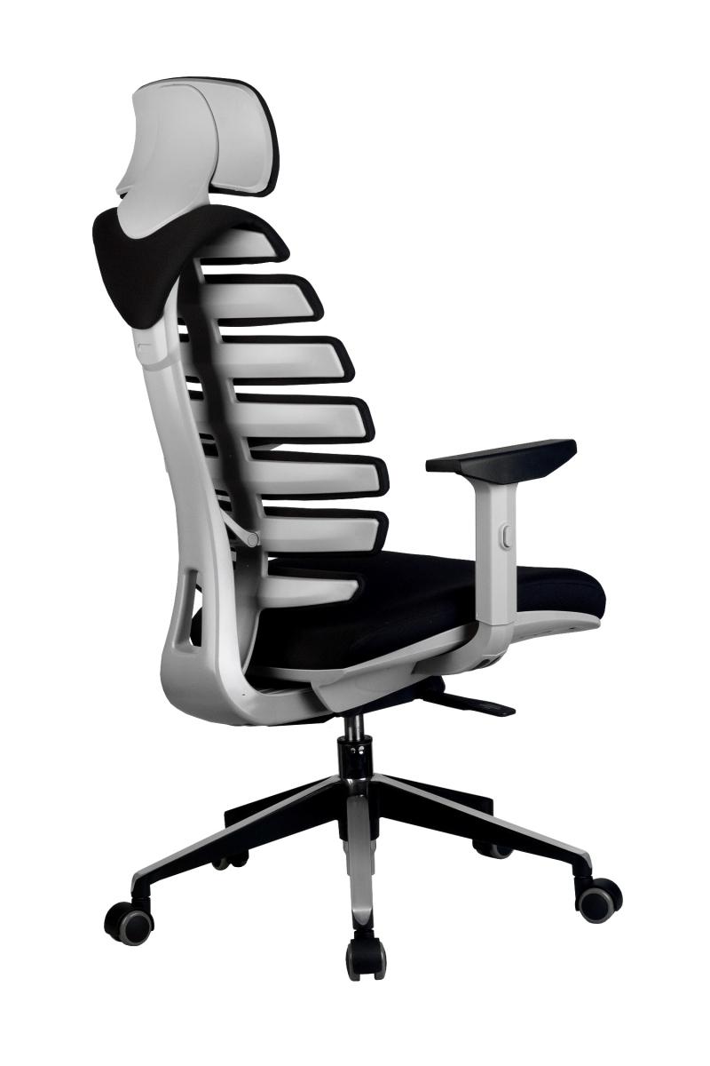 Кресло-RCH-Shark-серый-пластик-ткань-черная-4